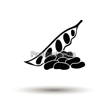 beans icon white background with