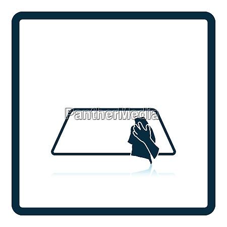 wipe car window icon shadow reflection