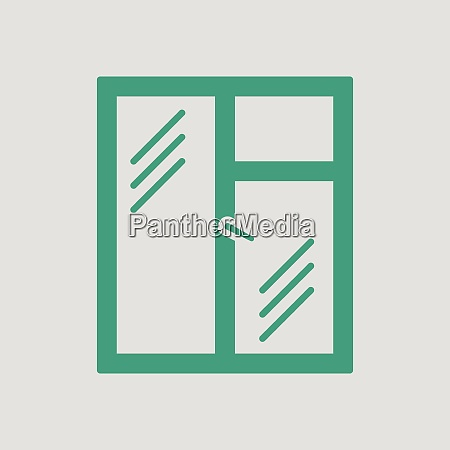 icon of closed window frame gray