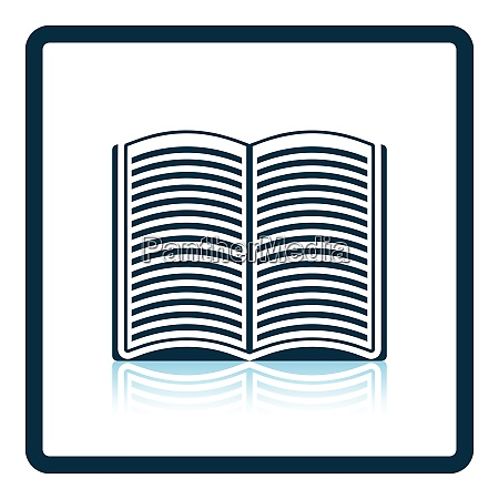 open book icon shadow reflection design