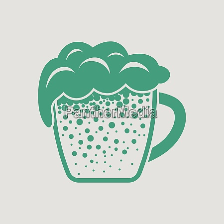 mug of beer icon gray background