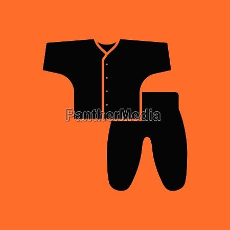 baby wear icon orange background with