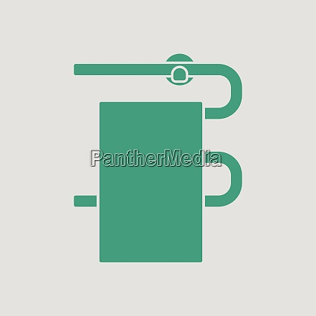 heated towel rail icon gray background