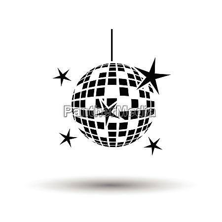 night clubs disco sphere icon white