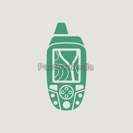 portable gps device icon gray background