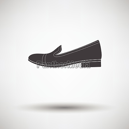 woman low heel shoe icon on