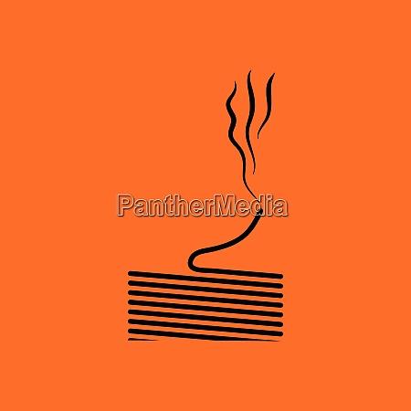 solder wire icon orange background with