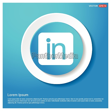 linked in icon abstract blue web
