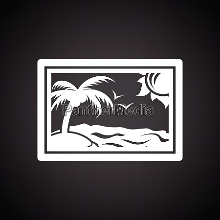 landscape art icon black background with