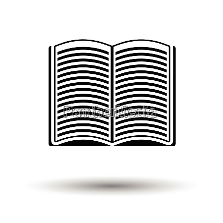 open book icon white background with