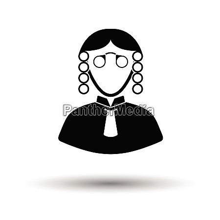 judge icon white background with shadow