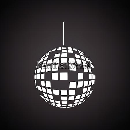 party disco sphere icon black background