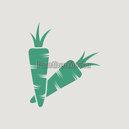 carrot icon gray background with