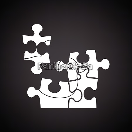 baby puzzle ico black background with