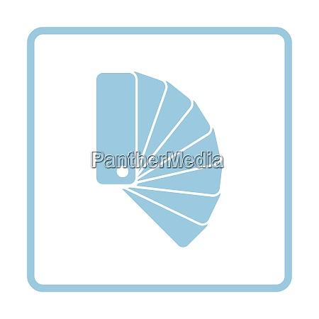 color samples icon blue frame design