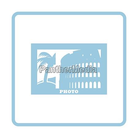 digital photo frame icon blue frame
