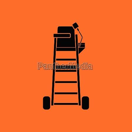 tennis referee chair tower icon orange