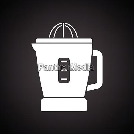 citrus juicer machine icon black background
