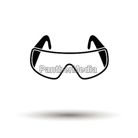 icon of chemistry protective eyewear white