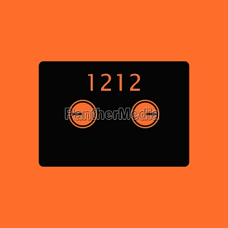 safe cell icon orange background with