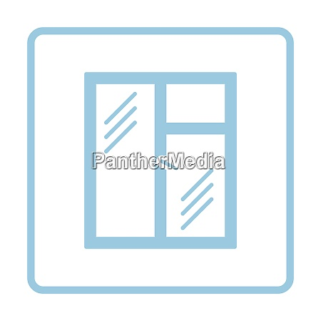 icon of closed window frame blue