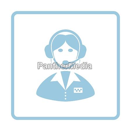 taxi dispatcher icon blue frame design