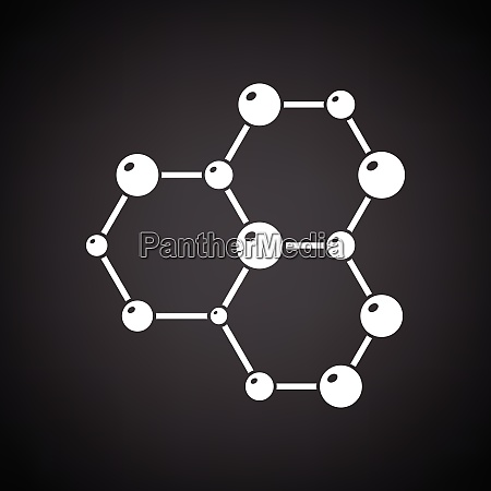 icon of chemistry hexa connection of