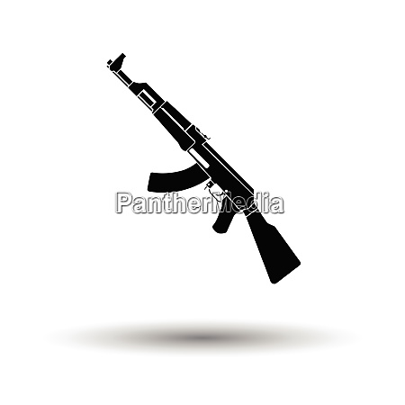 russian weapon rifle icon white background