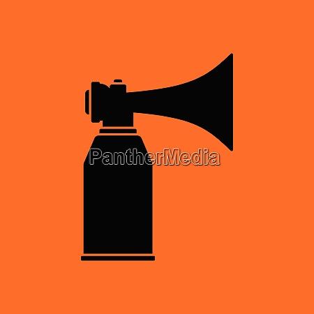 football fans air horn aerosol icon