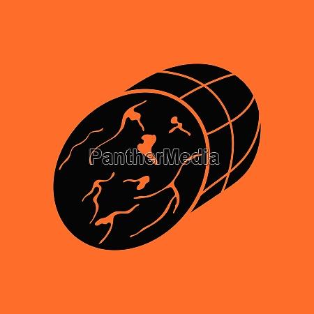 ham icon orange background with black