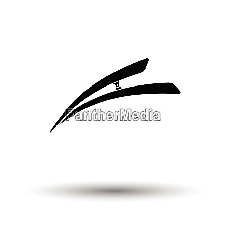 hair clip icon white background with