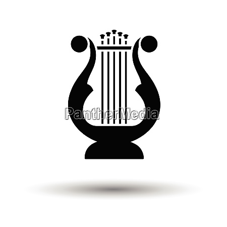 lyre icon white background with shadow