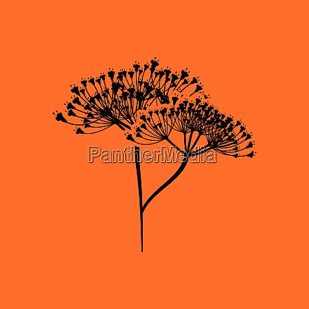 dill icon orange background with