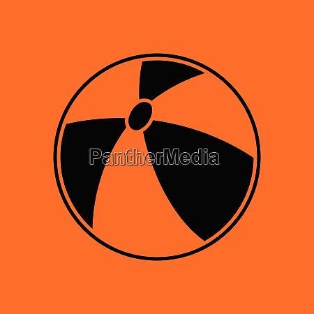 baby rubber ball ico orange background
