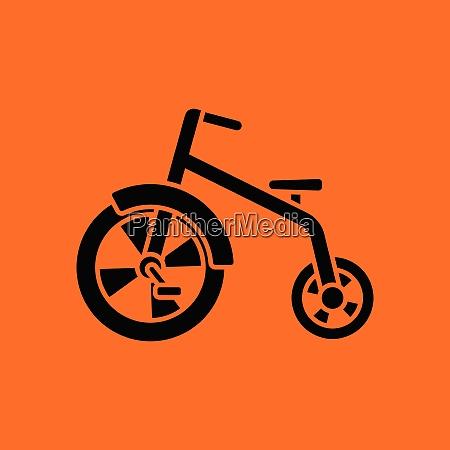baby trike ico orange background with