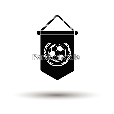 football pennant icon white background with