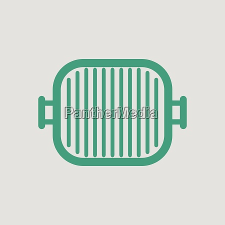 grill pan icon gray background with