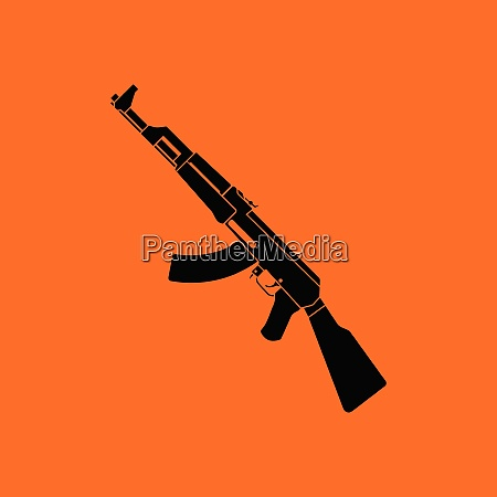 russian weapon rifle icon orange background