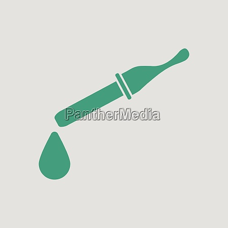 dropper icon gray background with green
