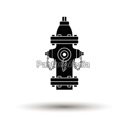 fire hydrant icon white background with