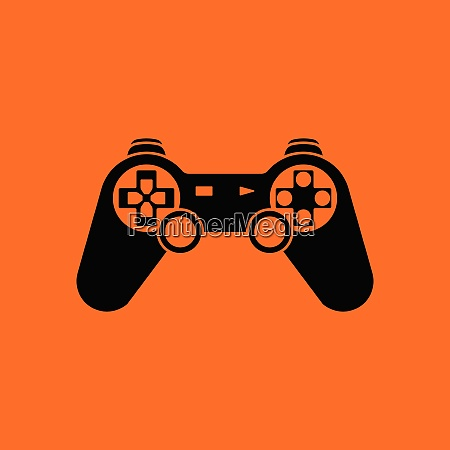 gamepad icon orange background with