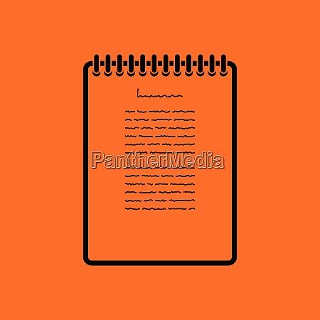 binder notebook icon orange background with