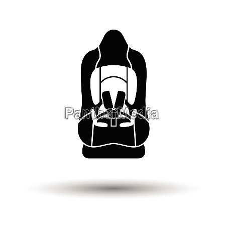 baby car seat icon white background