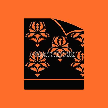 wallpaper icon orange background with black