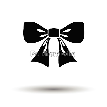 party bow icon white background with