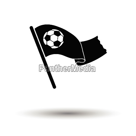 football fans waving flag with soccer