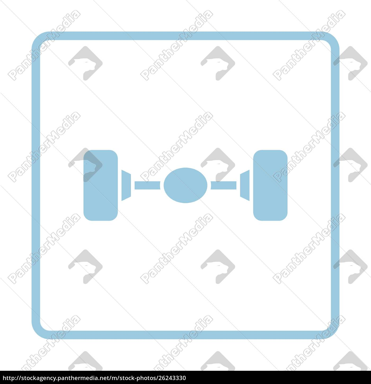 car, rear, axle, icon., blue, frame - 26243330