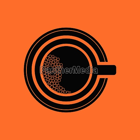 coffee, cup, icon., orange, background, with - 26243226