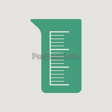 icon of chemistry beaker gray background