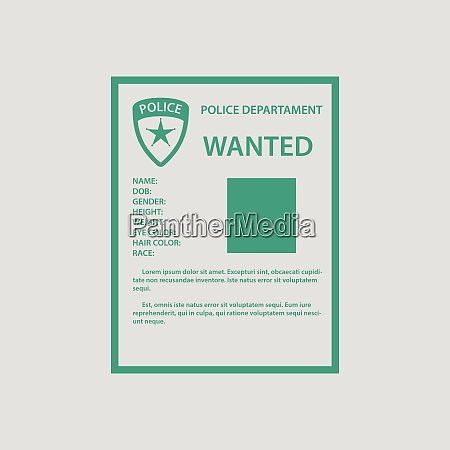 wanted poster icon gray background with